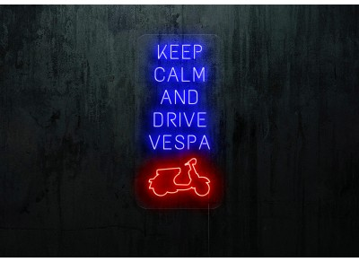 "Neon Led ""Keep calm and Drive vespa"""