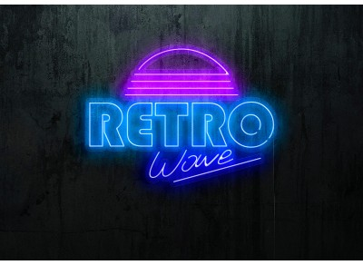 "Neon Led ""Retro Wave"""
