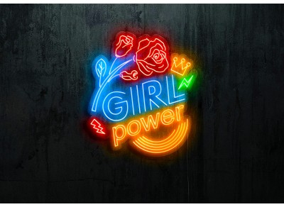 "Neon Led ""Girl Power """