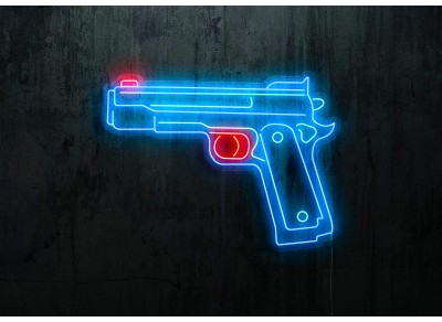 neon led pistola, lightsandwires