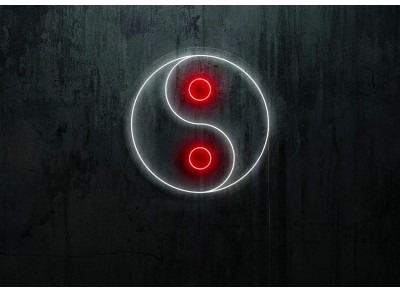 neon led ying yang, lightsandwires