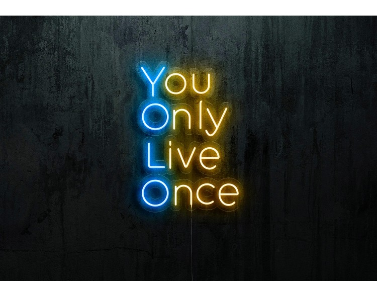 """Neon Led """"You Only Live Once"""""""
