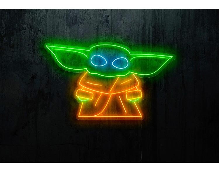 neon led baby yoda stars wars lightsandwires
