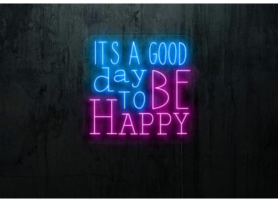 "Neón Led ""Its a good day to be happy"""