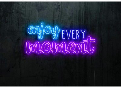 "Neón Led ""Enjoy every moment""lightsandwires"