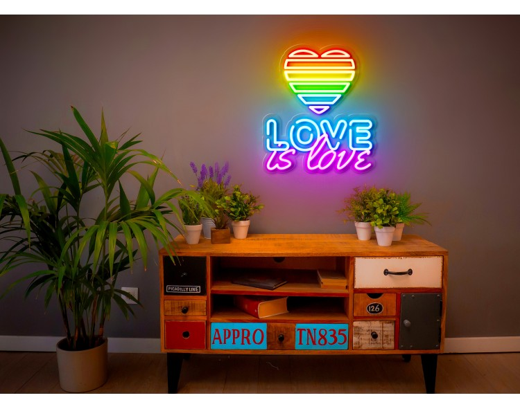 neon led love is love