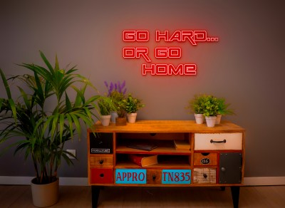 "Neón Led ""Go Hard... or go Home"""