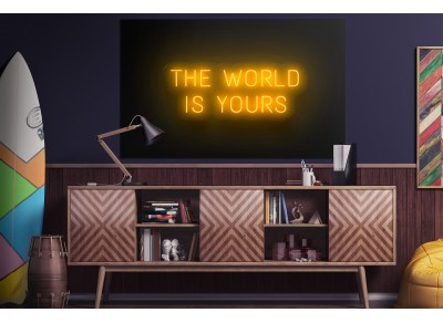 "Neón Led ""The world is yours"""