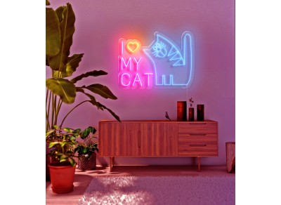 "Neon Led ""I love my Cat"""