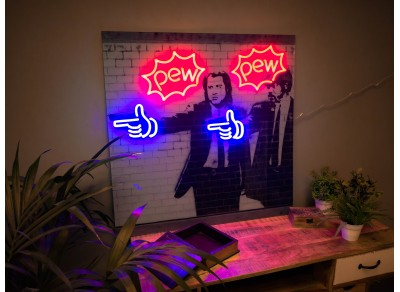 cuadros neon led pulp fiction