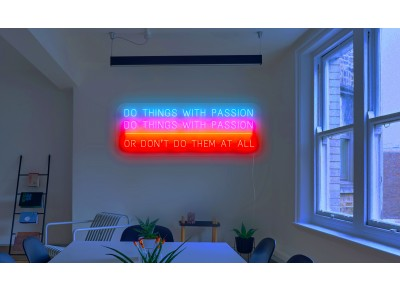 "Neón Led ""Do things with passion"""