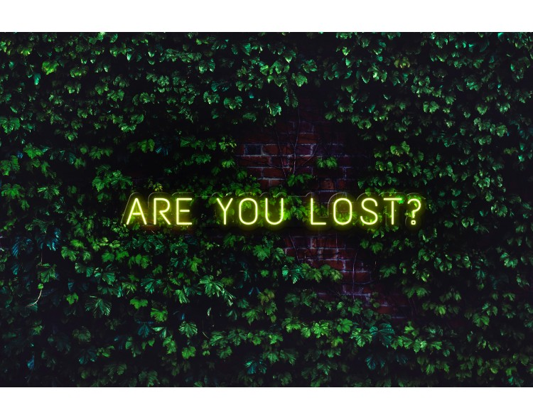 """Neón Led """"Are you lost"""""""
