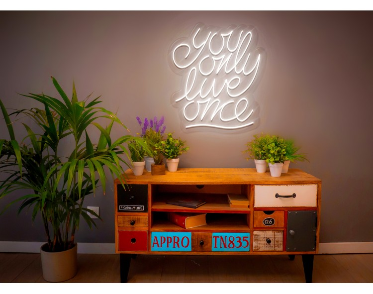 "Neon Led ""You only live one"""