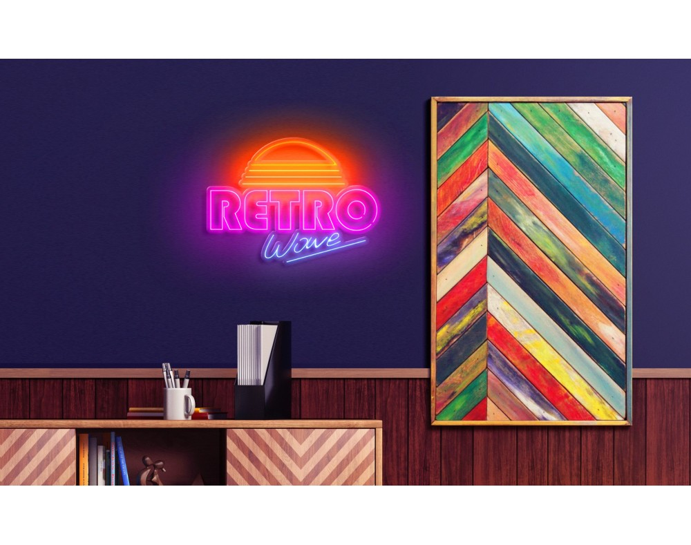 Neon led retro wave Lightsandwires