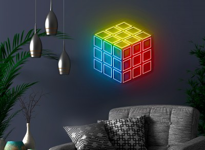 neon led cubo rubik lightsandwires
