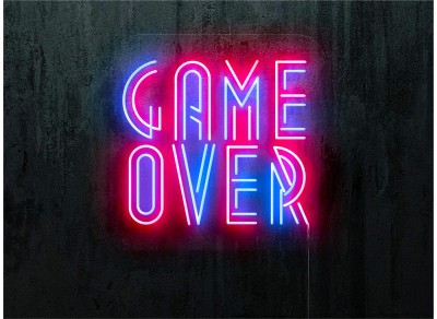 "Neon Led ""Game Over"""