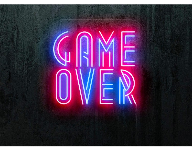 """Neon Led """"Game Over"""""""