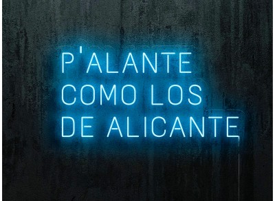 neon led p'alante como los de alicante, color azul, lightsandwires