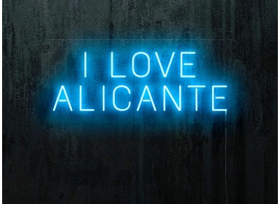 "Neon LED ""I love Alicante"""