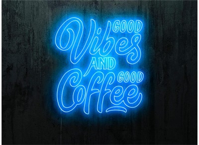 "Neon Led ""Good vibes and good coffee"""