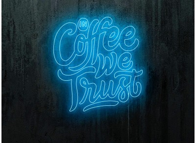 "copy of Neon Led ""Good vibes and good coffee"""