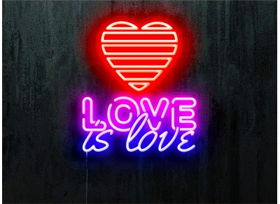 neon led love is love lightsandwires