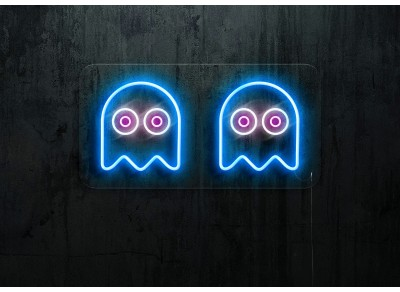neon led fantasma comecocos lighstandwires