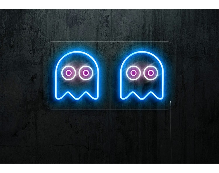 """Neon Led """"Pacman Ghost"""""""