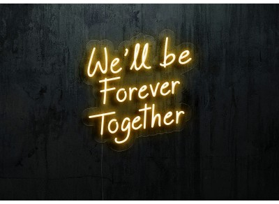 neon led we'll be forever together lightsandwires