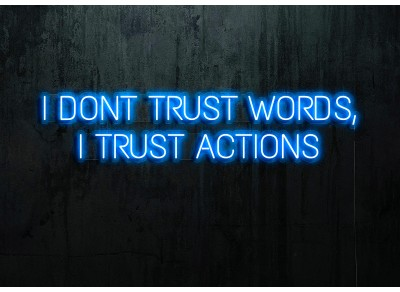 "Neon Led ""I dont trust words"""