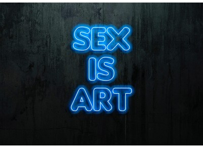 "Neón Led ""Sex is Art""lightsandwires"