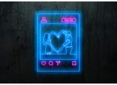 "Neon Led ""Love Instagram"""